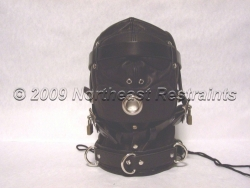 The Dreamer Leather Sensory Deprivation Hood - Oral Sex Capable (MAX AIRFLOW)