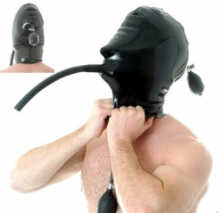 Inflatable Rubber Hood and Gag