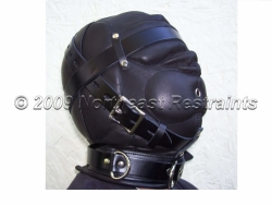 The Dreamer Leather Sensory Deprivation Hood - Small Mouth