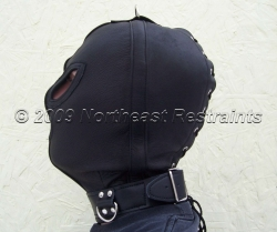 The Merauder Leather Bondage Hood