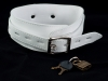 Leather White Collar with D Ring
