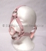 Pink Head Harness Ring Gag - PVC